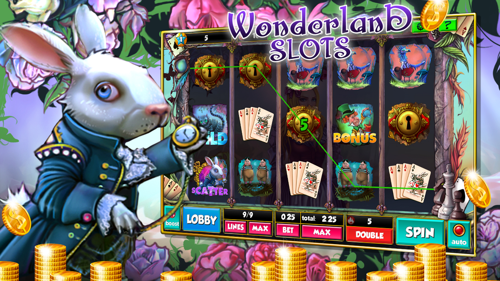 Adventures in Wonderland is a fun 5-reels and paylines slot game powered by Ash Gaming.This exciting slot game is based on the novel Alice's Adventures in Wonderland by Lewis Caroll and two Walt Disney movies that followed, the first titled Alice in Wonderland.Other recreations of the classic tale have also been produced.4,1/5(1,1 тыс.).Afşin
